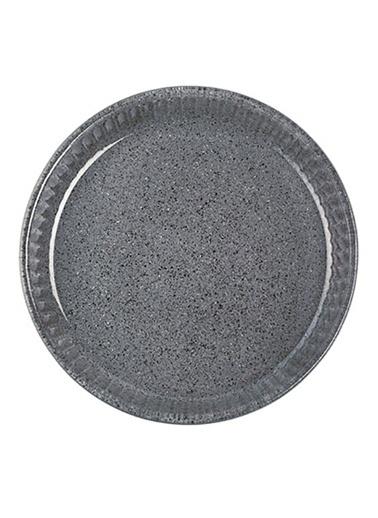 Granit Borcam - Yuvarlak Koyu Gri - 32 Cm-Paşabahçe